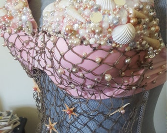 Mermaid bras made to order (image provided is an example)