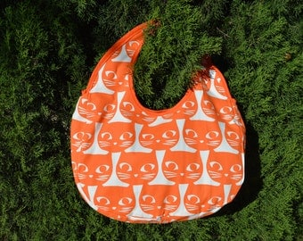 Purse / / orange / / handmade / / cat / / summer bag
