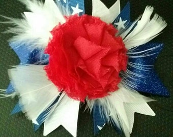 Patriotic 4th of July Hair Bow