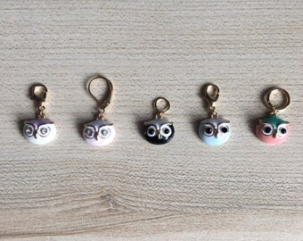 Hoot On! Stitch Marker/Progress Keeper Set