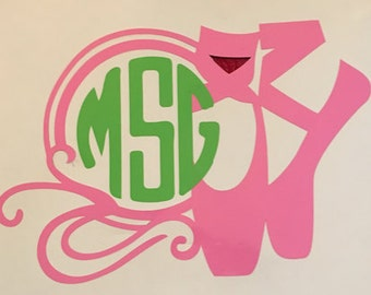 Ballet Slipper Monogram