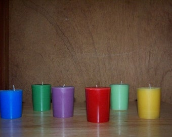 6 Votive Candles Choose Your Scent