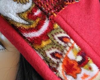 Handmade Women's Toboggan/Warm Winter Hat/Multi Colored/size medium/FC31