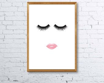 Makeup Eyes and Lips Print