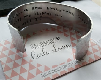 Hidden message cuff