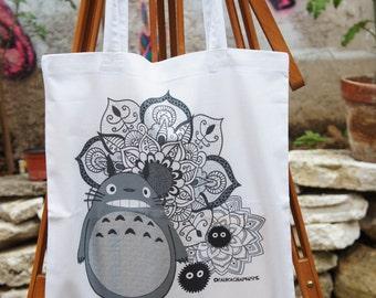Tote Bag Totoro Mandala