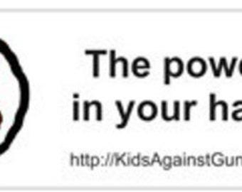 KidsAgainstViolence Bumper Sticker