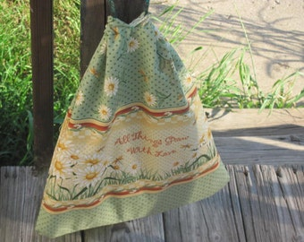 All Things Grow With Love Drawstring shoulder bag