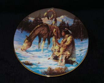 """1993 Hamilton Collection The Last Warriors """"Twilight's Last Gleaming"""" Collector Plate by Chuck Ren"""