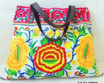 Ethnic Bag, Boho Bag, Tribal Bag, Beach Bag, Handbag Cotton, Shoulder Bag Cotton, Tote Bag Cotton, Diaper Bag, Market Bag, Sport Bag