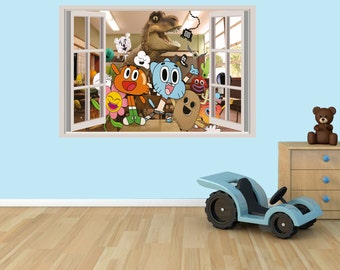 The Amazing World Of Gumball 3D Effect Graphic Wall Vinyl Sticker Decal