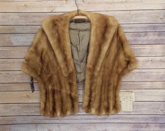 Vintage Fur Mink Shawl