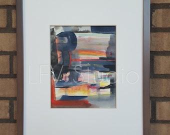 Original Abstract Watercolor & Acrylic Painting Multi-color Series #009 - LFV Studio