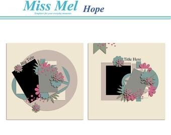 Digital scrapbook Template : Hope