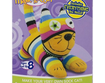 Sewing kit - Sew a Cat from a Sock