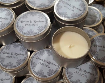 Wedding Candle Tins