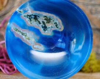 Blue Onyx Crystal Bowl - 1019.07
