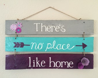 Wood sign // There's no place like home // home decor // housewarming gift