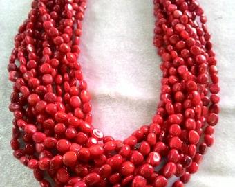 Red corals multi strand