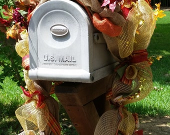 Fall/Mailbox Cover/Mailbox Topper/Burlap/Autumn/#blingmybox/Free Shipping on This Item!