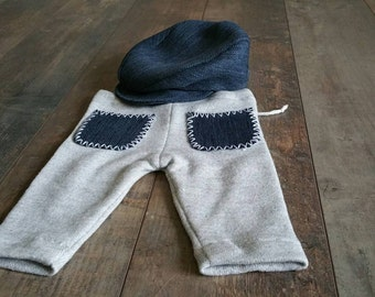 Newborn props pant hat set baby boy protography