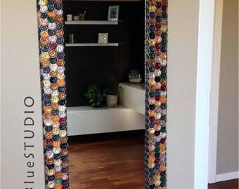 Aluminium mosaic mirror