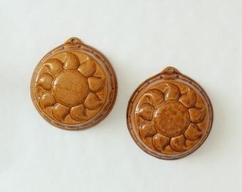Vintage, Pair of Ceramic Gugelhupf, Bundt, Cake, Jelly Moulds