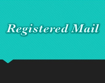 Registered Mail fees
