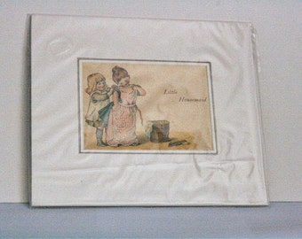 Little Housemaid By C.S. Flint - Mounted Print