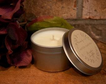 6 Ounce Tin 100% Soy Fall/Autumn Candle