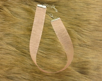 Pink Transparent Choker