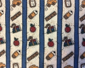 School Days Cotton Fabric