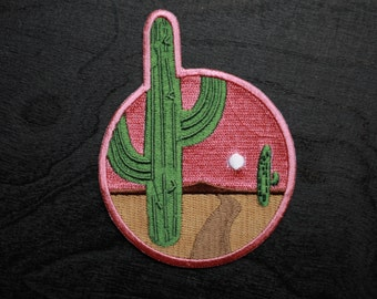 Cactus in the Desert Iron On Patch