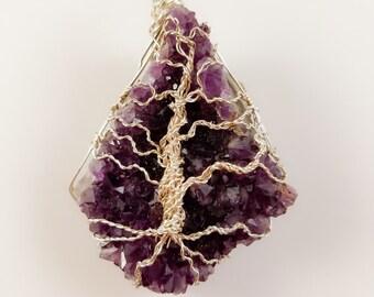 Amethyst Tree of Life pendant