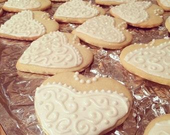Bride heart cookie
