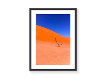 Sand dune Namibia Art Photo With Frame