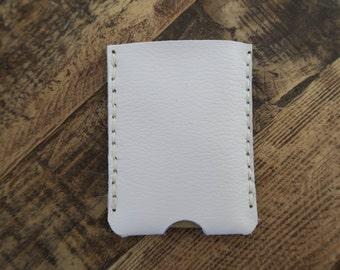 White Handmade Leather Minimalist Wallet