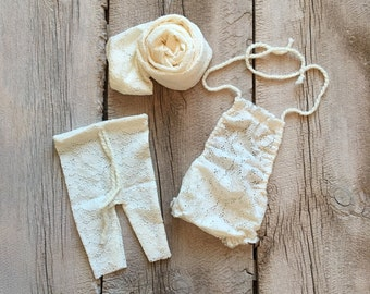 Newborn Girl Prop Package, Floral Lace