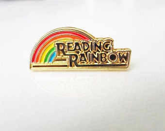 Reading Rainbow Enamel Pin