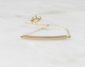 Classic + Simple Gold Bar Bracelet