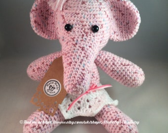 REDUCED TO CLEAR Blossom the Pink Elephant