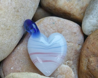 Red,White, and Blue Heart Pendant