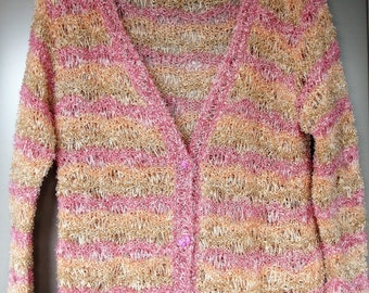 Loose cardigan in candy colors-size M/L