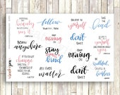 Hand lettered planner stickers - Quotes Collection - Kikki K, Filofax, Erin Condren Q1601