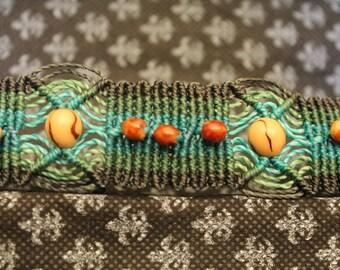 Bracelet macrame + seeds