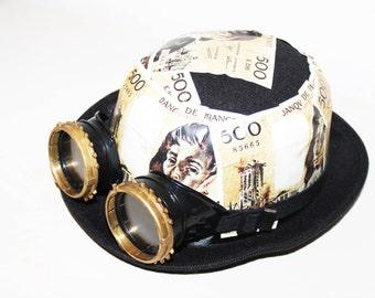 steampunk hat, bowler style steampunk