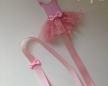 Ballerina, tutu, girls hair clip, bow organizer, tidy.