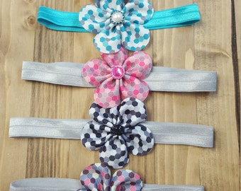 Geometric flower headband