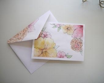 Customizable Pastel Flowered Card