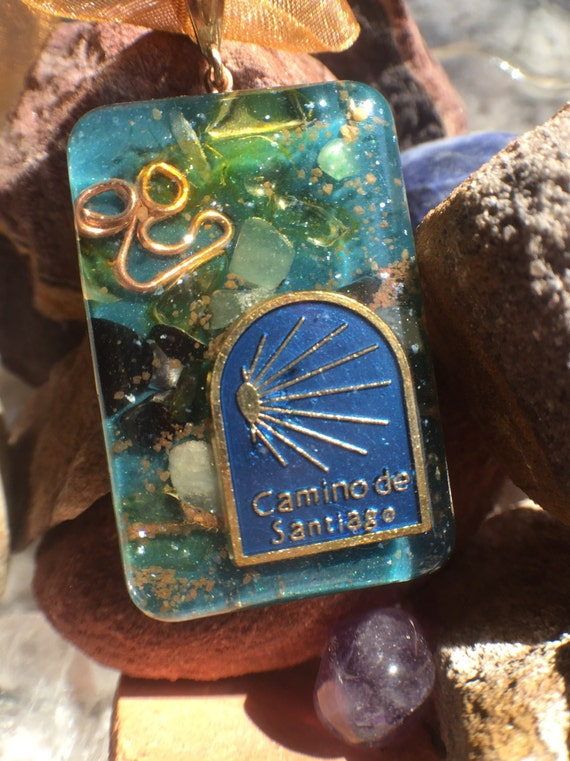 Camino De Santiago Orgone Amulet-Buen Camino Necklace- The Way Pendant- St. James Pendant